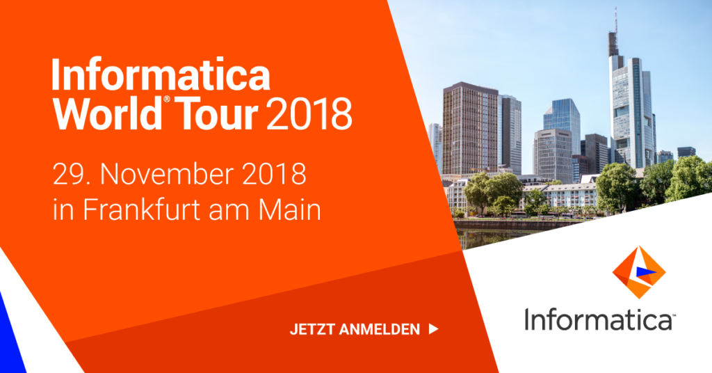 Informatica World Tour 2018 in Frankfurt